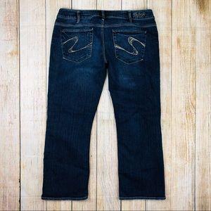 Silver Jeans Santorini Capri Cropped Jeans